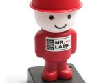 新款 可爱卡通可爱表情灯先生USB充电电池小台灯 节能led夜灯