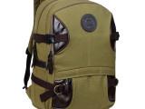 帆布双肩包男背包女韩版英伦电脑 包旅行包潮高中学生包休闲背包
