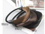 韩版厂家韩国仿真头发假发发圈发丝发绳头饰头绳/直发假发发绳