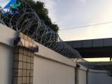 南京大学城围墙刀片防护网/小区学校围墙防攀爬刀刺滚笼