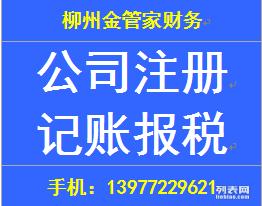 柳州代办注册公司 会计服务 代理记账 报税