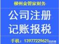柳州做账报税,代理记账,公司注册