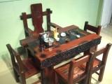 成都老船木茶桌椅組合特價整裝茶幾中式仿古實木茶臺功夫茶桌陽臺