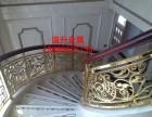 精细的铝艺楼梯护栏制造屏风工艺扶手订做