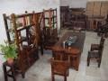 爆款老船木茶桌椅组合茶几餐桌办公桌椅子长凳沙发批发供应