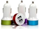 车载车充电器 双USB点烟式车充 手机平板3.1A极速充电12V