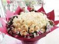珠海香洲花店七夕网上订花玫瑰百合满天星花束包邮