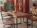 厂家直销 地中海实木餐桌椅组合 家具 圆桌 酒吧咖啡厅桌椅