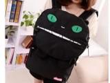 新款大眼猫双肩背包子母包书包学生包旅行包双背包两用包 批发
