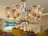 中山灯饰批发 精美玻璃吊灯 大堂客厅吊灯 美式铁艺吊灯 卧室灯