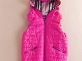 欧美高端品牌服装 厂家直批 欧美大牌秋冬新款连帽背心女式棉衣