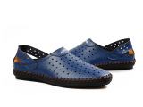 新款男式休闲凉鞋 男士洞洞鞋 男真皮凉鞋 洞洞鞋批发厂家直批