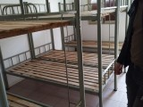 实木条板铁架床,上下铺床 双层床 高低床合肥出厂高品质低价格