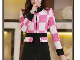2014韩版秋冬新款修身中长款毛呢大衣女秋装薄毛呢外套  潮