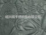 BQ-Q2166 供应PU皮革绣花绗棉布料  人造革车缝加工