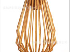 创意木艺灯 现代实木灯 木制个性鸟笼灯 客厅卧室专用灯具灯饰