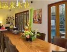 黑檀实木大板桌奥坎黄花梨餐桌会议桌办公桌巴花老板台