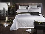 五星级酒店白色布草宾馆床上用品四件套 全棉贡缎提花被套床单