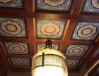寺庙吊顶禅堂彩绘天花板中式古建彩绘吊顶