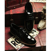 2014秋季新款 欧美外贸牛漆皮免维护男士西装鞋 正装鞋 男皮鞋 潮