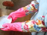 3931加长型束口橡胶手套 加绒乳胶手套 加厚洗衣洗碗手套家务手