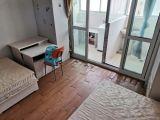 朝南一室户,独立卫生间厨房,双地铁,实景图房间大,两张双人床