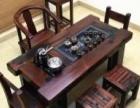 迪庆老船木茶桌椅组合茶几批发实木茶台