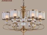 厂家供应新款吊灯 欧式全铜灯饰 工程定制支持混批 高端灯具