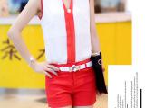 一件代发欧洲站雪纺套装女夏装2014新款韩国时尚休闲套装女短裤