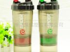 新款三层蛋白粉摇摇杯500ML摇杯BPA FREE厂家直销运动水壶塑料杯