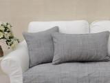 简欧宜家风格靠垫抱枕纯色简约腰靠腰垫灰色低调色织竹节含芯新品