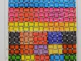 厂家直销石头纹压纹高光镜面彩色编织纹印花PU,PVC皮革,现货小