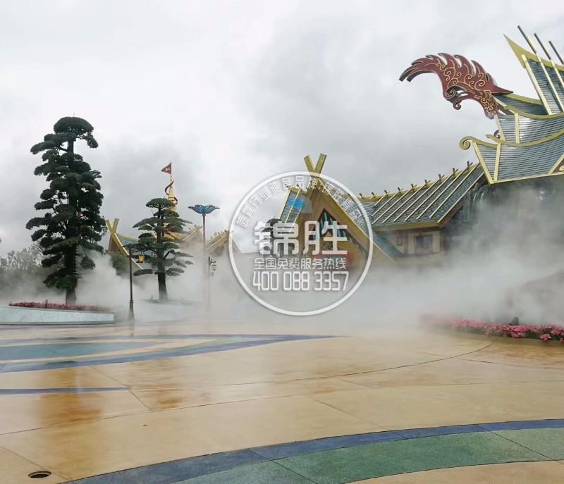 云南地区雾森景观人造雾景观酒店园林景观免费设计方案