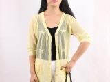 2015夏季时尚韩版女式针织开衫亚麻光丝镂空空调针织开衫新款上市
