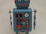 80后怀旧 铁皮玩具 铁皮动漫公仔  发条玩具 MS294机器人