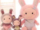 可爱围巾小兔子咪兔公仔宝宝兔儿童毛绒玩具 生日礼物创意礼品