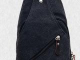 新款韩版帆布男胸包男女双用多功能帆布包单肩斜挎胸包