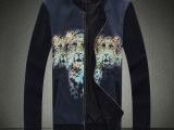 精品男装微信代理厂家货源2014秋装新款韩版印花个性夹克男外套