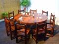 中式老船木吧台 船木餐桌 船木博古架
