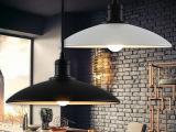 黑色白色单头吊灯 铁艺复古吊灯工业风咖啡厅酒吧餐厅吧台灯具