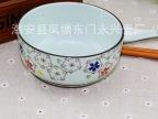 《荐》4.3寸日韩式碗 米饭碗 印彩色釉陶瓷碗 青瓷日用饭碗
