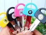 C031-3韩国创意文具 钥匙笔造型 圆珠笔汽车礼品笔宝马奥迪笔