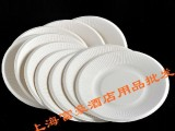 厂家直销环保一次性快餐纸盘纸浆碟子纸叠盘子天然甘蔗圆盘15.5c