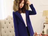 2014冬新款毛呢外套韩版中长款女装外套大衣微信代理代理加盟