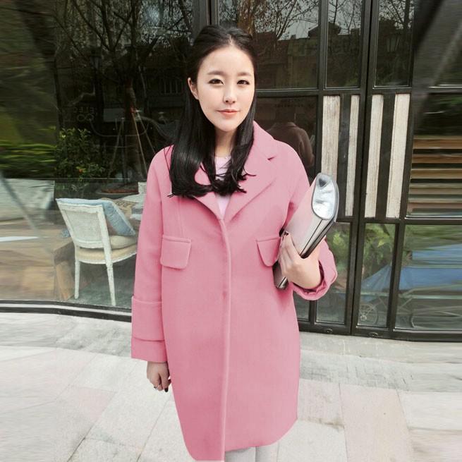 一手货源全新秋冬爆款韩版时尚潮款女装毛呢大衣批发厂家直销