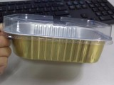 一次性餐盒铝箔盒烤箱焗饭意面盒碗外卖打包铝箔盒长方形烧烤盒
