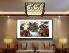 黄石办公室装饰书法字画现货出售、纯手绘国画山水裱框挂轴