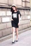 欧时力17新款连衣裙品牌女装尾货库存一手批发 贝左服饰公司