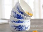中国瓷都 厂家直销青花瓷 韩式套装餐具 家用陶瓷碗 米饭碗 批发