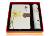 中国好礼物新款正品 中国风真丝笔记本两件套 本子加多用鼠标垫